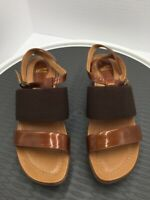 Dansko Womens Strappy Sandals Brown Wedge Heels Buckle Leather 5.5-6 EUR 36 New