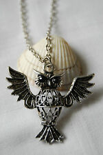Tibetan silver necklace lucky owl pendant lovely retro vintage style