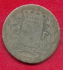 TOP RARE 1 FRANC LOUIS XVIII ARGENT DE 1816 M ! RARE !!