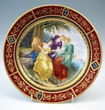 ROYAL VIENNA PRUNK TELLER WEIBLICHE FIGUREN DREI MUSEN BOHEMIA 1870/80