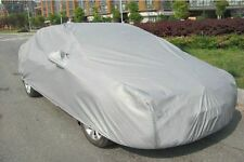 1 pc Silver Gray Car Cover Shield Outdoor Waterproof Coat Sunscreen Dust Sheet