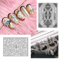 Flowers Element 3D Nail Stickers Patterns Transfer Decals Decoration Nails Tips