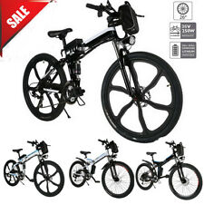 "26"" Folding Electric Bike Mountain Bicycle EBike SHIMANO 21Speed 36V Li-Battery"