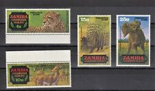 TIMBRE STAMP  4 ZAMBIE Y&T#77-80 FAUNE ANIMAL  NEUF**/MNH-MINT 1972 ~B56