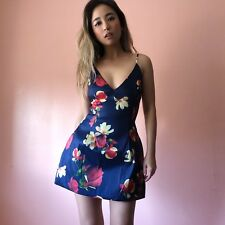 Tropical Floral Mini Dress With Pockets