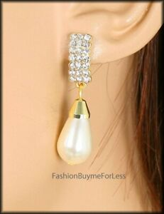 Rococo Baroque French Fargonard Crystal Royal Tahiti Pearls Museum Earrings