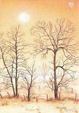 Alte Kunstpostkarte - M. Bergoint - Bäume