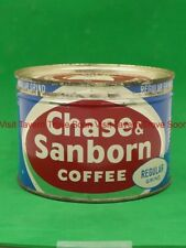 V2 1950s Chase & Sanborn Regular Grind One Pound Coffee tin can