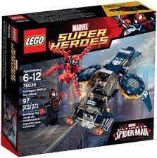 LEGO 76036 Marvel Super Heroes : Carnage SHIELD Sky Attack, Spider-man, Avengers