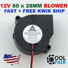 60mm 12V Blower Cooling Fan Brushless DC Exhaust Fan 2pin 60 x 28mm Computer