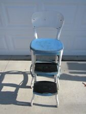 Vintage Retro Mid Century Cosco Metal Kitchen Seat Blue Folding Chair