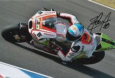 Yonny Hernandez Hand Signed Pramac Ducati 12x8 Photo 2015 MotoGP 10.