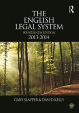 The English Legal System: 2013-2014, Kelly, David, Slapper, Gary, Very Good cond