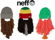 NEFF MEN'S SKI / SNOW BUNYAN BEARD  BEANIE, MANY COLORS, BRAND NEW!! SALE!