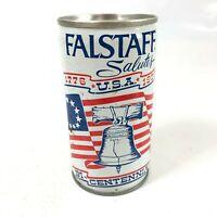 FALSTAFF 12 oz Flat Top Beer Can Metal Bicentennial 1976 Vintage