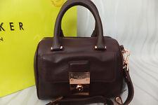 Ted Baker Emilya Ox Blood Luggage Lock Mini Duffel Cross Body Bag RP