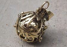 Brass metal harmony chime ball pendant, angel calling, pregnancy calming.4.5 cm