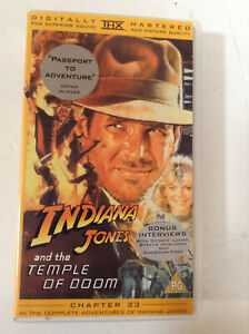Indiana Jones And The Temple Of Doom (NEW AND SEALED) - VHS