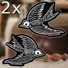 2 x pieces BOMONSTER Sparrows sticker decal old school tattoo hot rod 4.5""