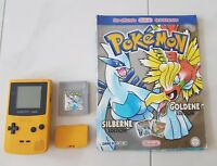 Nintendo Game Boy Color Gelb inkl Pokemon Silberne Edition  Spieleberater Silber