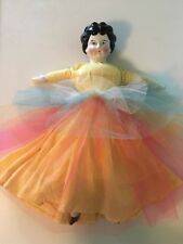 German Antique China Doll with Black Hair from 1800-1900's, Hertwig and Company
