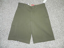 Izod Shorts Military Explorer Olive Size 30 Mens Performance Stretch NWT $60