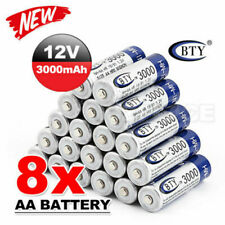 8pcs BTY AA Rechargeable Battery Recharge Batteries 1.2V 3000mAh Ni-MH