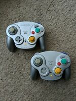 2 Nintendo Wavebird Gamecube Wireless Gray Controllers Only No Receiver TESTED