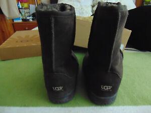 UGG Bailey Button Ladies Calf Boots - Dark Brown -  Size UK 8.5 US W10 -