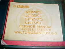 1975 YAMAHA TD 100 125 125E 175 (C) FACTORY SERVICE MANUAL FRENCH GERMAN ENGLISH