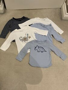 Baby Boys Long Sleeve Tops Bundle. H&M. TU. Matalan. 6-9 Months