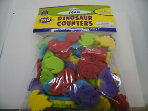 24 Pack TEACHER CREATED RESOURCES FOAM DINOSAUR COUNTERS 100 PCS Each