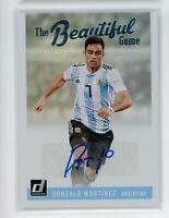 2018-19 Gonzalo Martinez Auto Panini Donruss The Beautiful Game