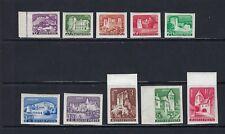 B&D: 1960 Hungary Scott 1282-1291 Castles IMPERFORATE set MNH--fresh