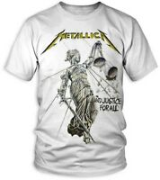 """Metallica """"And Justice For All"""" Official Album White T-Shirt Adult XL Tee NWT"""