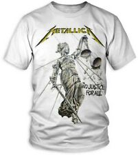 Metallica And Justice For All Official Album White T-Shirt Adult Large Tee NWT
