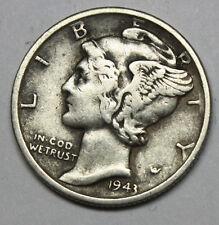 1943-s Mercury Head Dime. Error Double Date. (Inv. B)