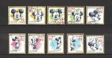 JAPAN 2017 DISNEY MICKEY MOUSE COMP. SET OF 10 STAMPS IN FINE USED CONDITION
