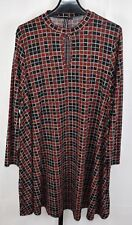 Capsule Red and Black Plaid Long Sleeve Dress Plus Size 24