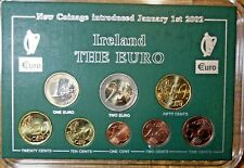 IRELAND : IRISH FIRST YEAR EURO COIN SET 2002.