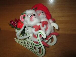 "Annalee Christmas Sledding Bears 6/"" New 760419 Closeout"