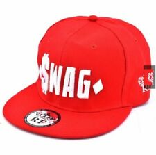 SWAG Snapback Cap Visor for Men (Red)