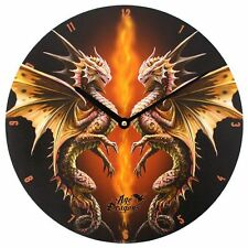 PAGAN/WICCAN/ Desert Dragon Wall Clock by Anne Stokes.34cm diam.