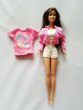 Vintage Barbie Doll Clothing Genuine Pink Shirt Jacket & Handmade Romper
