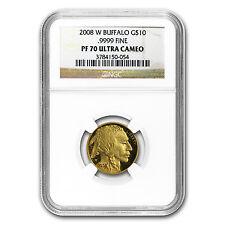 2008-W 1/4 oz Proof Gold Buffalo PF-70 NGC - SKU #61347