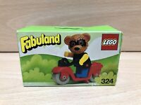 Vintage Lego Fabuland 324 Ricky Racoon On His Scooter Boxed BNIB New 1979 Rare!