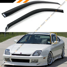 For 1997-2001 5th Gen Honda Prelude JDM Smoke Rain Guard Deflector Window Visor