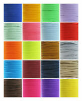6mm COLOURED FLAT ELASTIC TRIM *33 COLOURS* CORD TRIMMING STRETCHY RIBBON