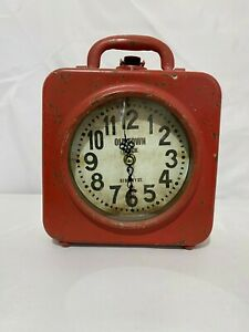 Decorative Lunch Box Style Dual Face Clock