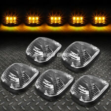 FOR 99-16 FORD SUPERDUTY 5PCS BLACK YELLOW LED CAB ROOF RUNNING LIGHT+HARNESS